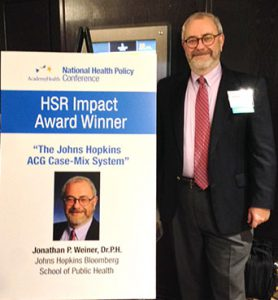 Jonathan-Weiner-and-AcademyHealth-2015-HSR-Impact-Award